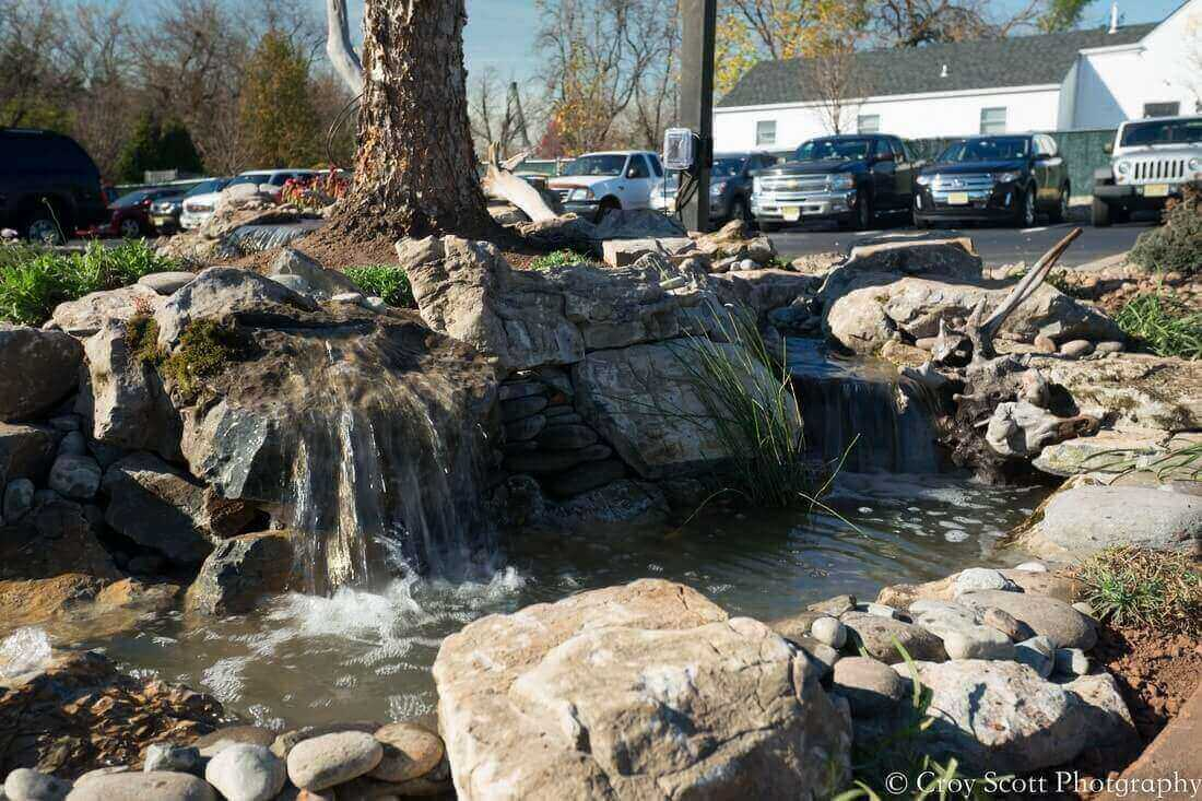 Pondless Waterfall & Custom Heated Walkway, Storr Tractor Company