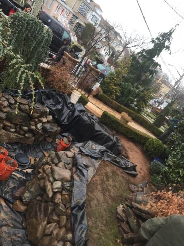 Pond Build in Brooklyn, NY
