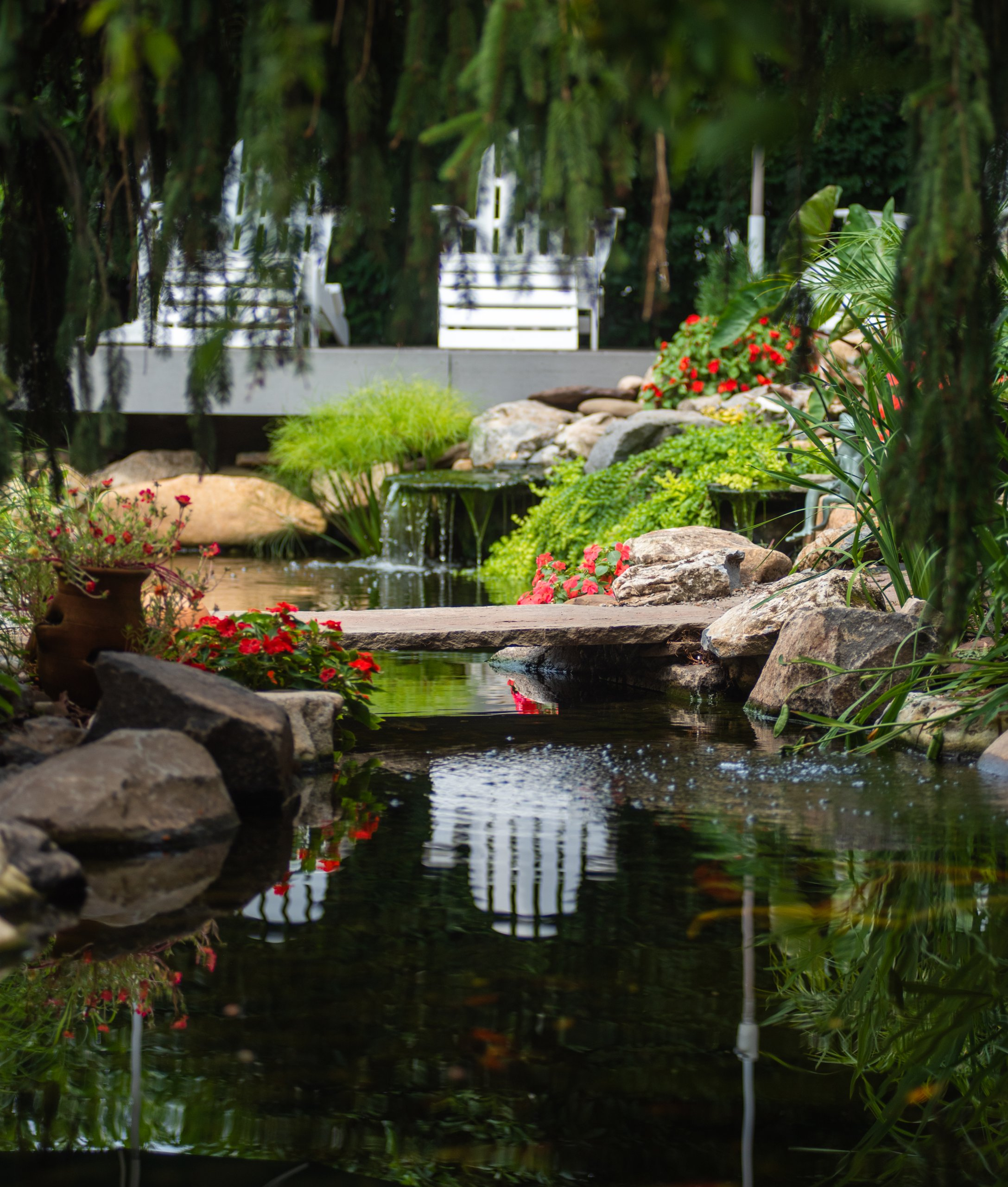 Pond and Hardscaping Project in Bridgewater, NJ