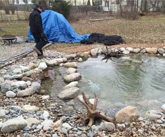 Pond Rebuild & Bog Installation, Franklin, NJ